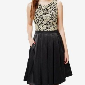 Review Women In Gold Fit And Flare Black And Gold Dress Size 10